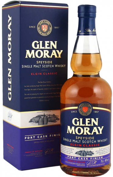 Виски Glen Moray Single Malt Port Cask Finish 0,7 л в под. коробке