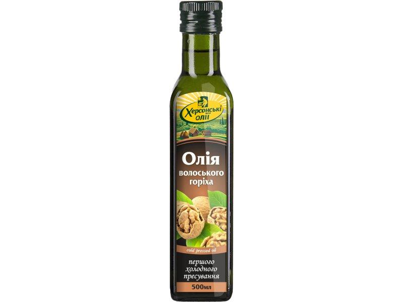 Олія волоського горіха ТМ «Херсонські олії» 500 мл
