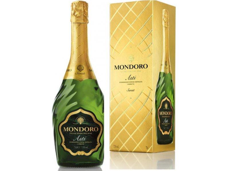 Вино игристое ASTI Мondoro 0,75л  Подарочная коробка