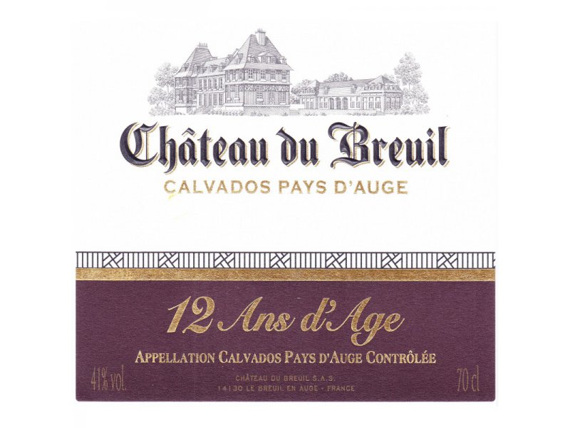 Кальвадос Château du Breuil 12 YO Calvados Шато дю Брей 12 лет 0,7л