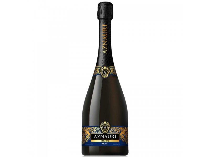 Вино игристое Азнаури брют белое сухое  0,75 л