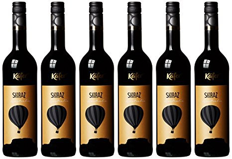 ВИНО ШИРАЗ КАФЕР KAFER SHIRAZ КР., СУХ., 14.5 %, 0.75Л