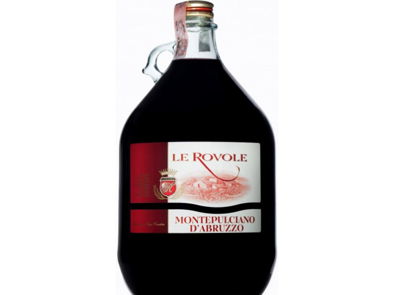 Вино Verga Le Rovole Montepulciano D'Abruzzo DOC красное сухое 5 л 12%