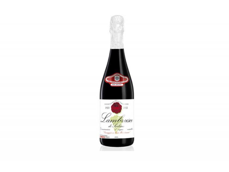 Вино игристое Cantina di Sorbara Il Carpine Lambrusco Omaggio A Gino Friedmann Superior Rosso DOP Secco (Ламбруско Россо, чер сухе) 11.5% 0.75л