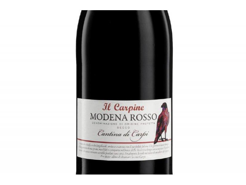 Вино игристое Cantina di Sorbara Il Carpine Lambrusco Di Modena Il Carpi Rosso DOP Secсo Frizzante (Ламбруско Ді Модена Іль Карпі Россо, чер сухе) 11% 0.75л