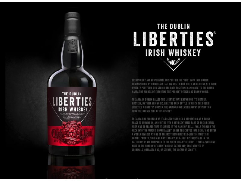 Виски The Dublin Liberties Oak Devil Irish Whiskey 46% 0,75 л