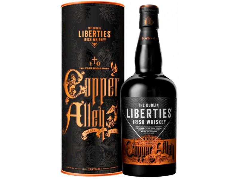 Виски The Dublin Liberties 10 Year Old Copper Alley, in tube, 0.7 л