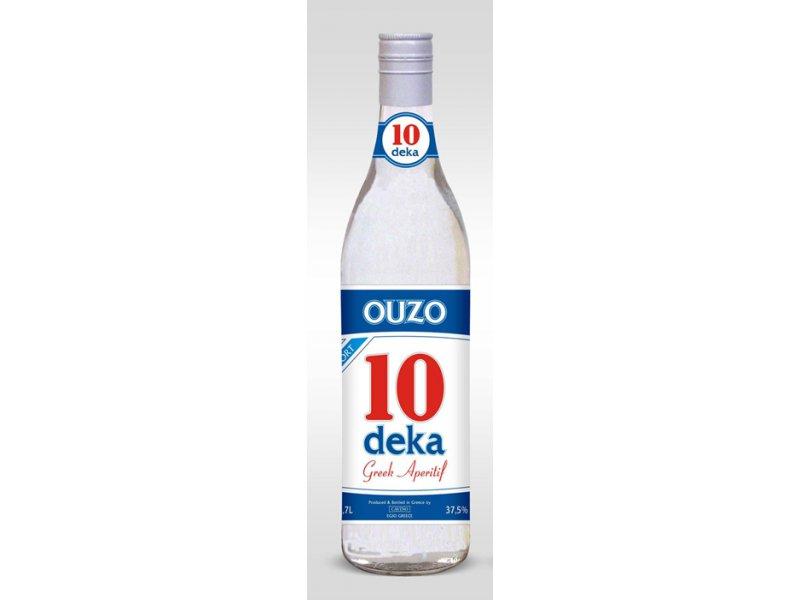 Узо 10 ДЕКА  анисовый напиток спиртовой Cavino 10 DEKA Ouzo  37.5% 0,7 л