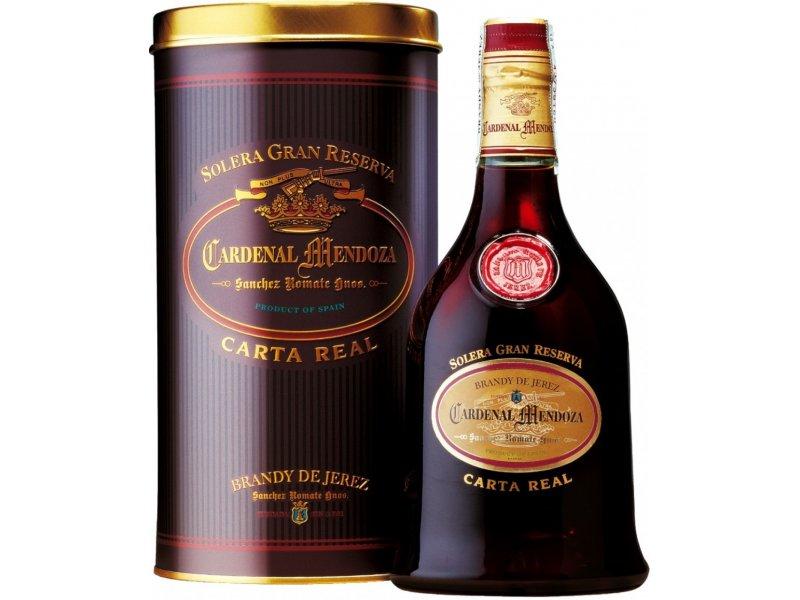 Бренди Cardenal Mendoza Carta Real Solera Gran Reserva 30 ЛЕТ, gift box, 0.7 л