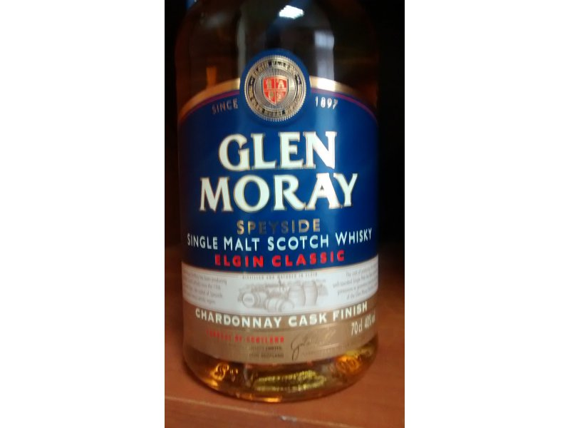 Виски Glen Moray Single Malt  Chardonnay Cask Finish 0.7 л в под. коробке