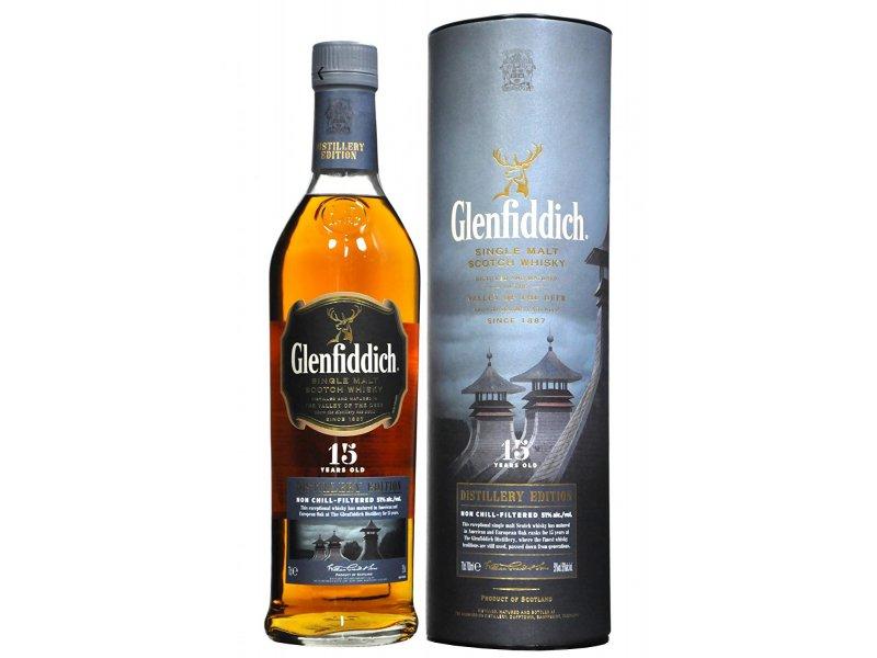 Виски Glenfiddich 15yo Distillery Edition 0,7 Tube 0,7 л