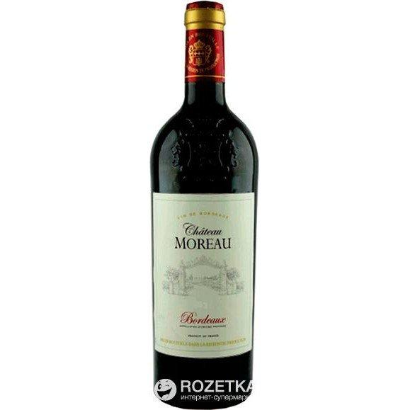 Вино Chateau Moreau Bordeaux 2013г красное сухое 0.75 л